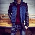 PQ6 Patchwork Stand Collar men parka  winter jackets mens winter jackets and coats winter jacket men 2016