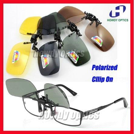 20pcs Free Shipping Green Yellow Grey Brown Sunglass Glasses Eyeglasses Polarized Clip On Sunglasses 6 optional