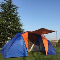 Big tourist tent 4 people double layer two bedroom Outdoor Large camp 4 person large camping tents family leisure 3 season
