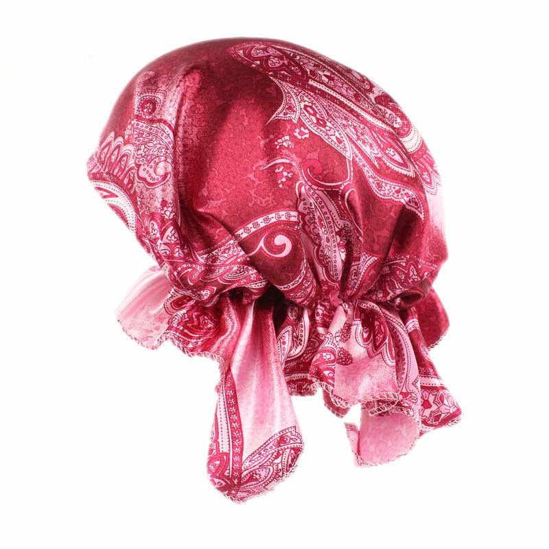 Женский цветочный стиль Шелковый Тюрбан шляпа волосы Баотоу женский атласный Шелковый Тюрбан заколки для Волос Кепка chemo головной шарф женские аксессуары для волос