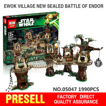 1990pcs Lepin 05047 Star Wars Ewok Village Building Blocks Juguete para Construir Bricks Toys Compatible with legeod