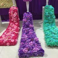 Artificial Silk Rose Wedding Trailing Flower For Desk Table Wall Decoration Silk Hydrangea Road lead Wedding Decoration Backdrop