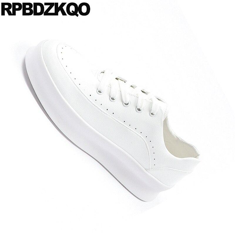 Blanc Sneakers Ascenseur Marque Caoutchouc white Skate Lacent Creepers White Style Piste Elevator Plate Formateurs forme Chaussures Casual Britannique En Hommes 6tq1Rw