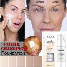 Yüz Makyaj Nemlendirici Astar Sıcaklık Değişimi Renk Cilt Bakımı Sıvı Nemlendirici Fondöten Krem Kapatıcı Kozmetik TSLM1