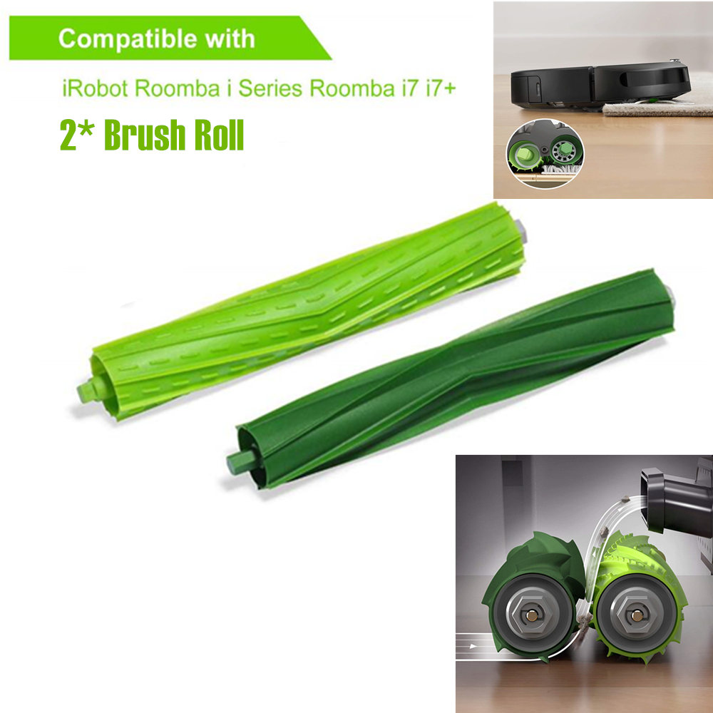 Cleaning Appliance Parts 2pcs Brush Roll For Irobot Roomba I7 E5 E6 I Series Robot Vacuum Cleaner Parts Replacement Roll Brushes Accessories Kit Home Appliances