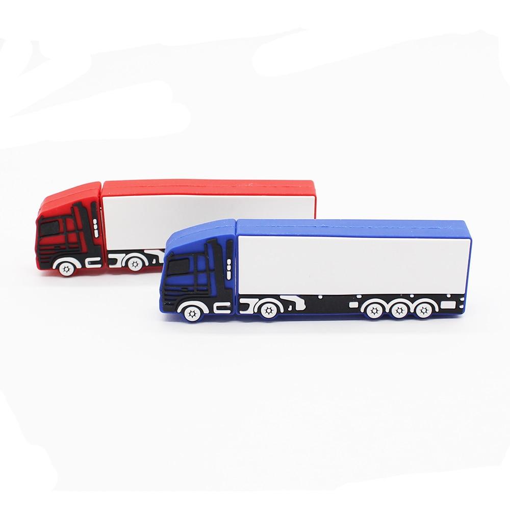 Customized LOGO Truck Flash Memory Stick 16g 8g 4g 2g Usb Flash Drive Pen Drive Usb Stick