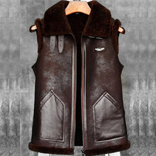 Denny Dora Mens Shearling Vest B3 B6 A2 Companion Mens Sheepskin Bomber Vest Short Fur Coat