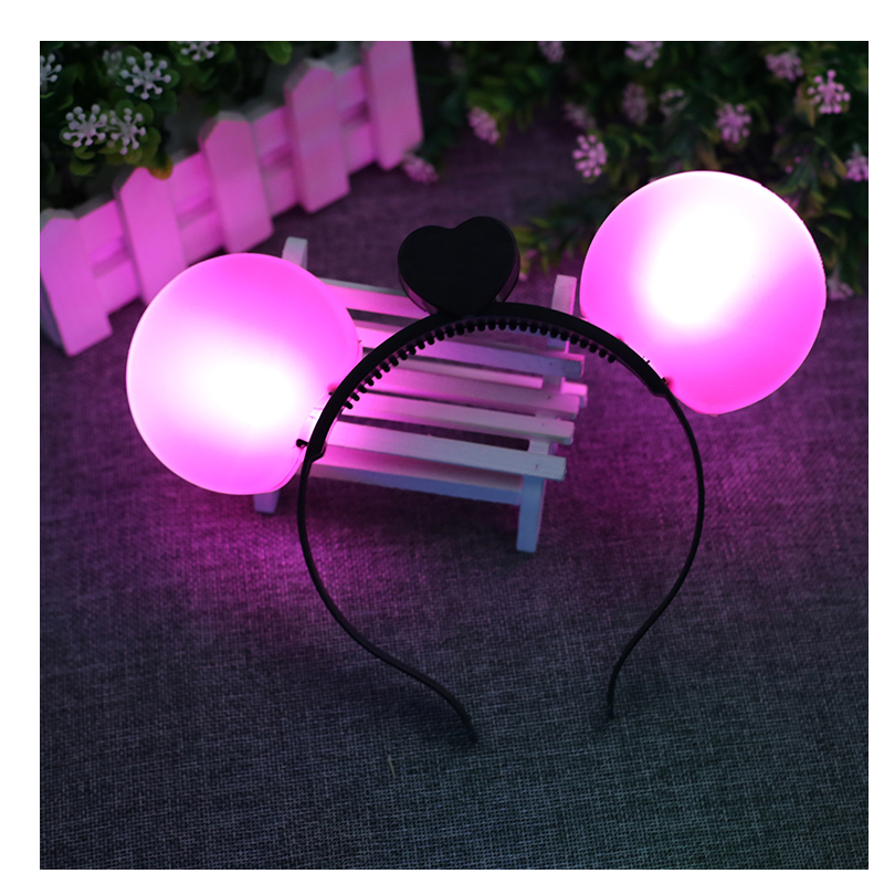 new 12 piece hot sale lit mickey minnie headdress with sparkling ribbon christmas concert party props in glow party supplies from home garden on - Lit Minnie