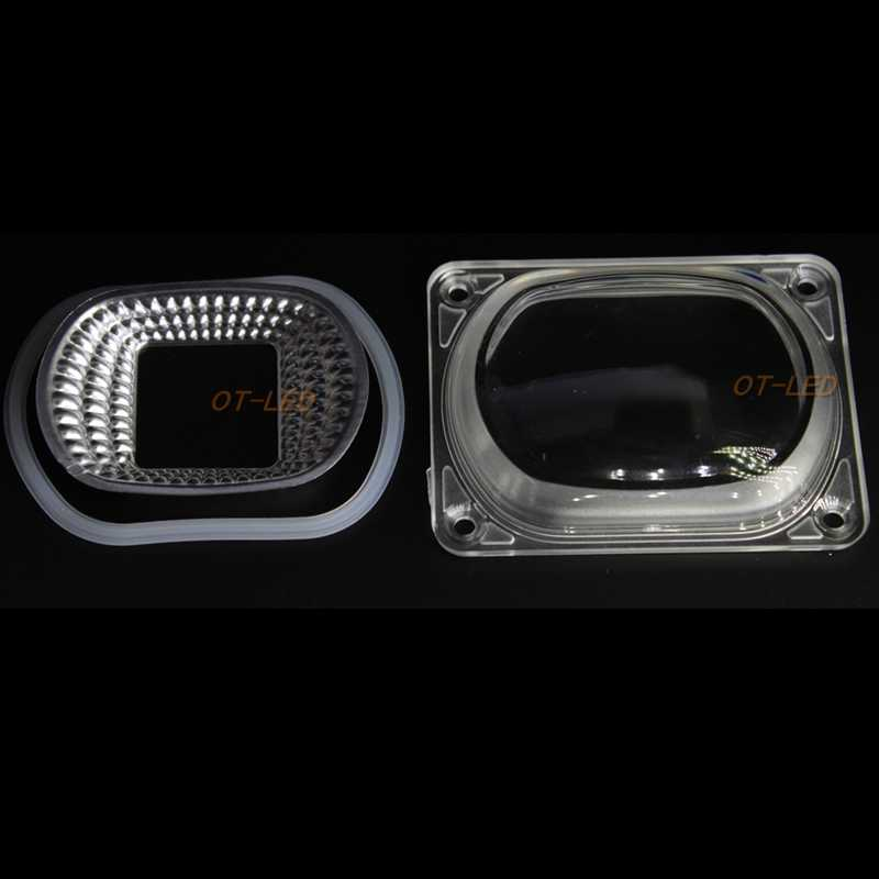 2 Sets LED עדשת רפלקטור LED COB מנורות כולל: PC עדשה + רפלקטור + טבעת סיליקון מנורת כיסוי גוונים הארה DIY