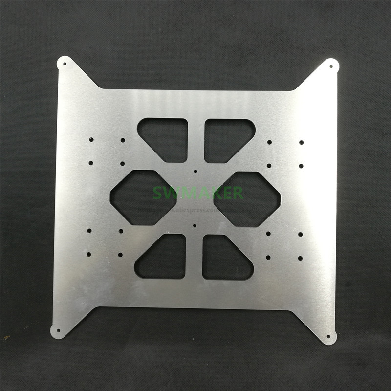 FLSUN I3 Plus upgrade aluminum Y carriage heated bed base plate 3mm thick 3D printer parts
