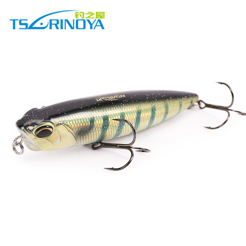 Trulinoya fishing lure floating pencil for sea fishing 2 sizes 10g 21g Minnow lure Bait fishing tackle quality Hook model trulinoya dw13 super minnow simuation fish 105mm 15g heavy lure dive deep2 5m hard bait fishing lure vmc hook