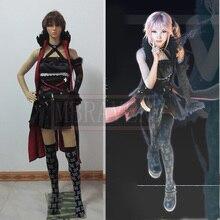 Lightning Returns Final Fantasy XIII Lumina Cosplay Costume Anime Custom Made Black Uniform