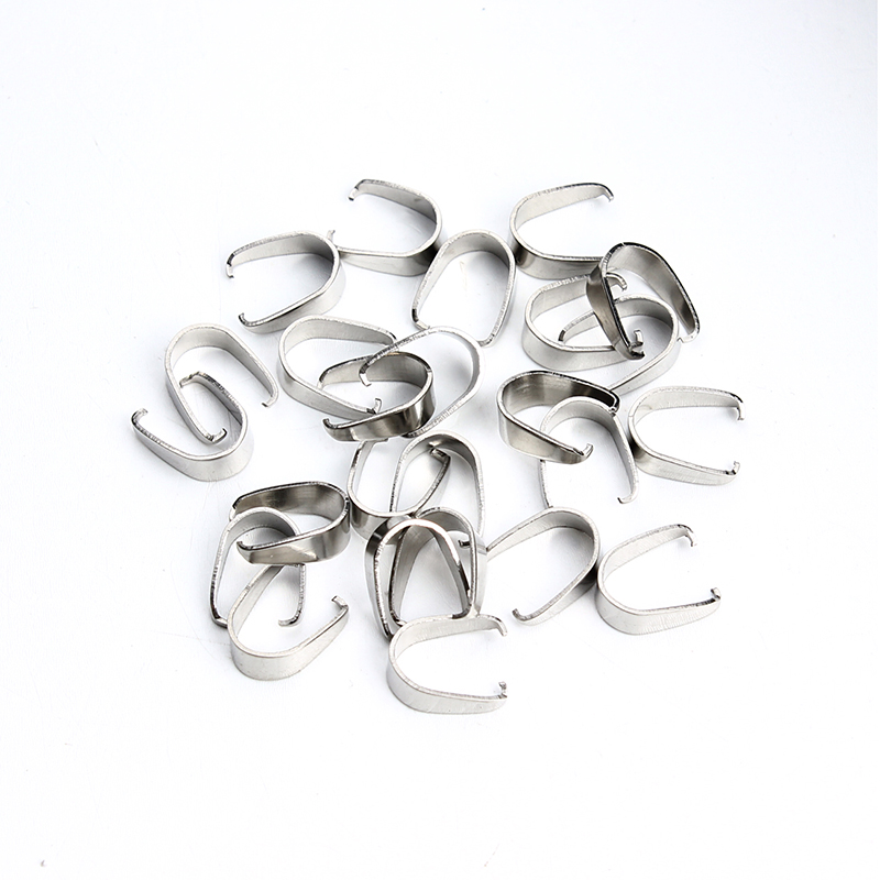 25pcs/lot 3.5*8*10mm Stainless Steel Necklace Connectors Bails Findings & Components Diy Material F2200