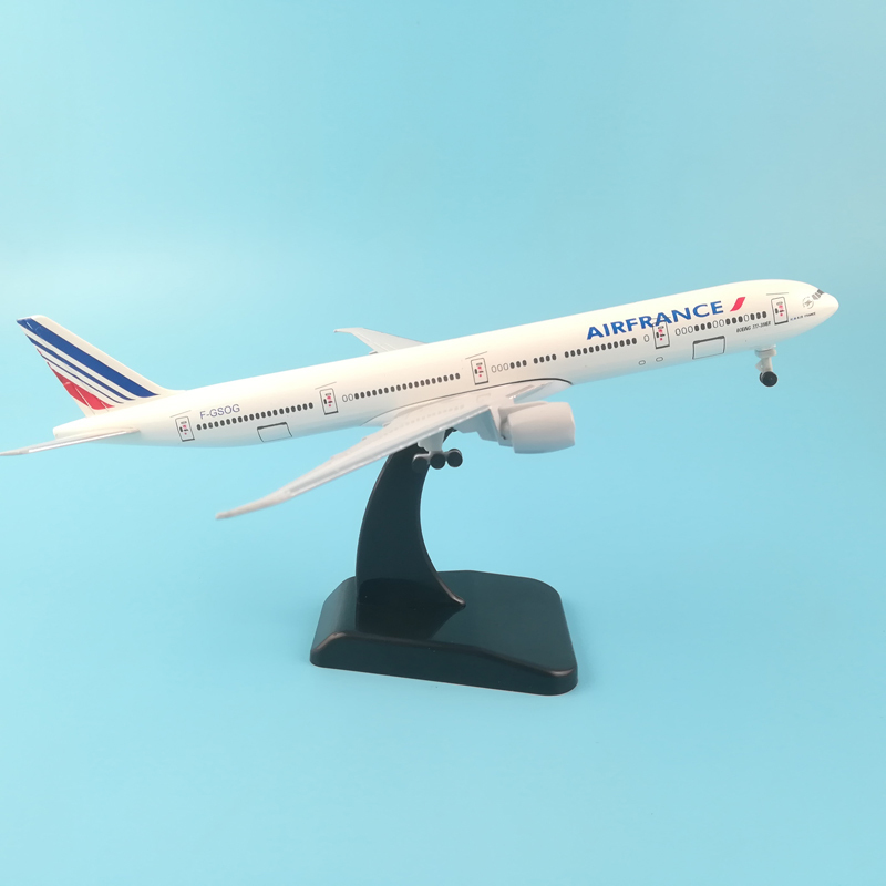 JASON TUTU 20cm Plane Model Airplane Model Air France Boeing 777 Aircraft Model Diecast Metal 1:200 Airplanes Model Plane Toy image