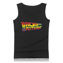 Back to the Future High Quality Cotton Summer Tank Top Men and Back to the Future Summer Stye Vests Sleeveless Shirts