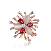 Austria Crystal Brooches Pin For Women Jewelry Gold Plated Womens Fashion Gift Box Charm Gift Holiday