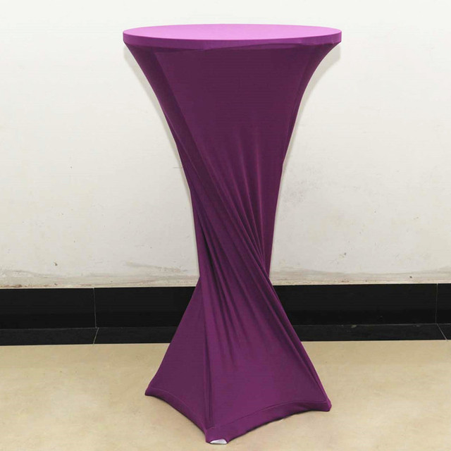 10pcs Stretch Lycra Bar Table Cloths Elastic Spandex Tail Covers Bistro Linens Wedding Event