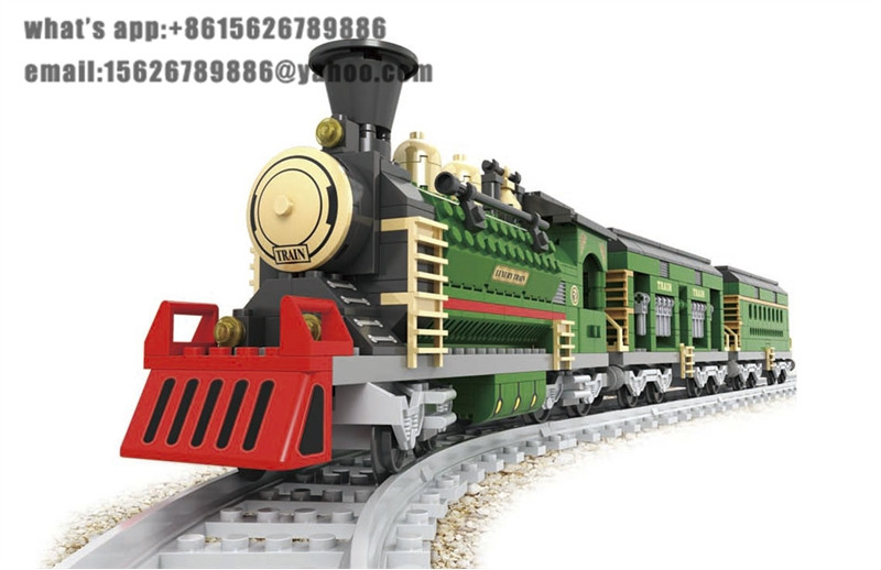 Ausini building block set compatible with lego transportation train 001 3D Construction Brick Educational Hobbies Toys for Kids newest track train brick building block set educational diy construction toys for children enlighten bricks compatible with lego