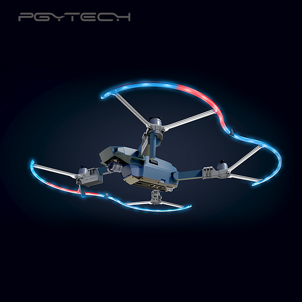 PGYTECH Presell LED Propeller Guard for DJI Mavic Pro/platinum drone Accessories Protective Propeller with LED free shipping цены