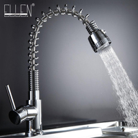 Kitchen Sink Tap Pull Out Solid Brass Kitchen Mixer Single Handle Chrome Modern Kitchen Faucet