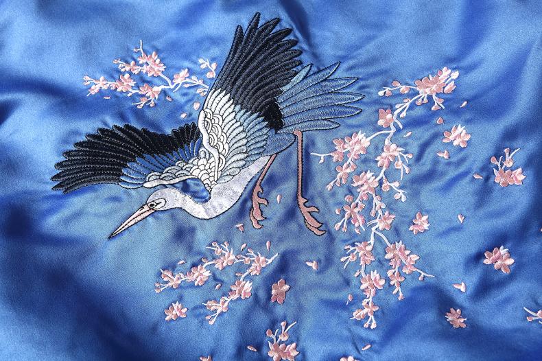 Custom Embroidered Satin Jacket 12