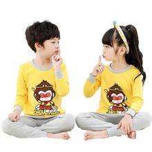2pcs/set Soft Cotton Home Wear Set Children Costume for Boys Girls Toddler Boy Clothes with Carton Pattern