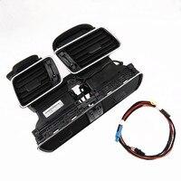 DOXA Black Piano Paint Cold Air Dashboard Air Vent Set+Cable Plug Kit For VW CC Passat B6 B7 R36 3AD819728A 701A 702A 3AA971315