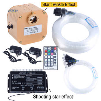 16W TWINKLE RGBW Engine RF Remote Control LED Fiber Optic 450pcs 3m with shooting Meteor Effect Home Ceiling Car Roof Lights - DISCOUNT ITEM  33% OFF All Category