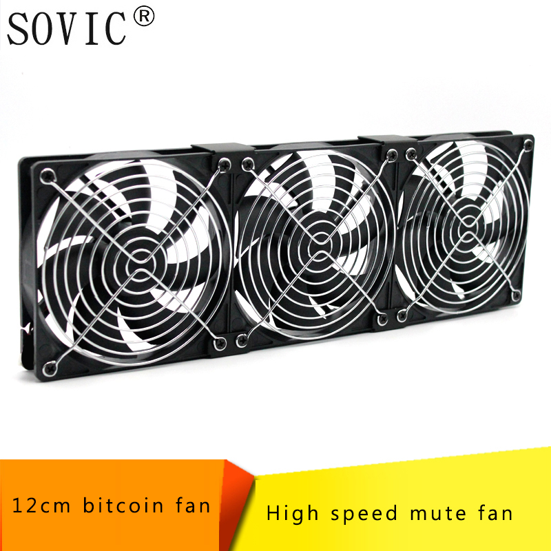 все цены на Computer/PC/CPU pc Fan 12cm 3pin high speed 120mm DC 12V Fan Miner Mining Case Cooling Fan for BTC Miner Bitcoin Antminer S7 S9 онлайн