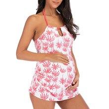 Женская одежда сексуальный купальник для беременных танкини женский бикини с цветочным принтом купальник пляжная одежда костюм для беременных Da Bagno