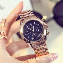 2017 New Luxury Brand Women Fashion watch stainless steel waterproof Dress Ladies quartz Wrist Watch Hodinky Relogio feminino