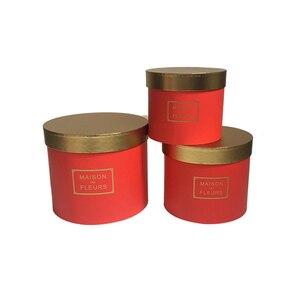 Image 5 - Boîte ronde avec couverture de couleur dorée pour fleuriste, coffret cadeau pour thanksgiving de noël, nouveau design 2020