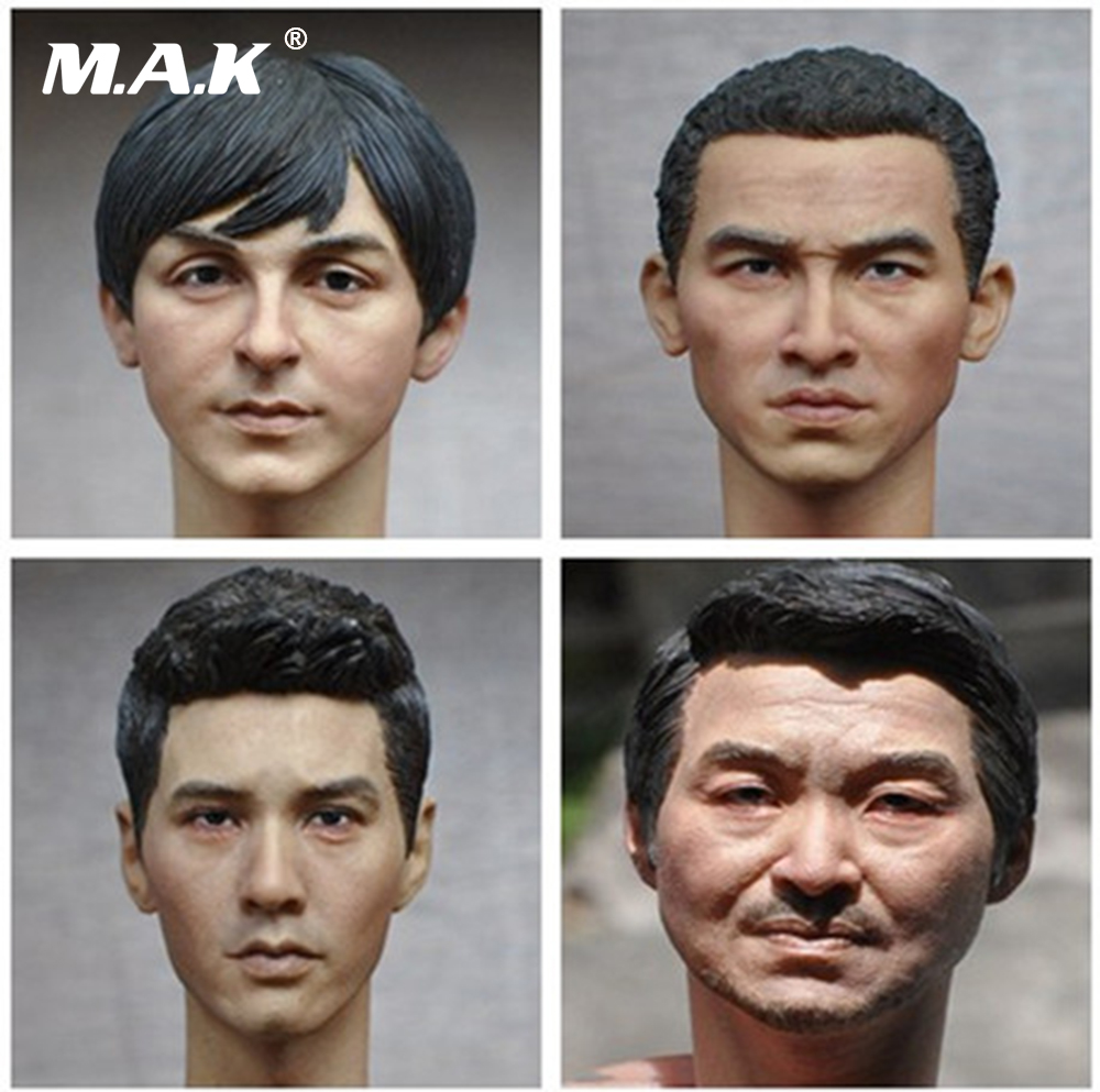1/6 Scale Male Head Sculpt European American Men Head Carving for 12 inches Action Figures купить