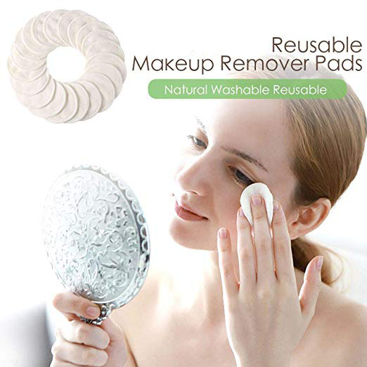 iCosow Reusable Makeup Remover Pads 1 Pcs Washable Organic Bamboo Cotton Rounds Toner Pads Facial Soft Cleansing Wipes in Toiletry Kits from Beauty Health