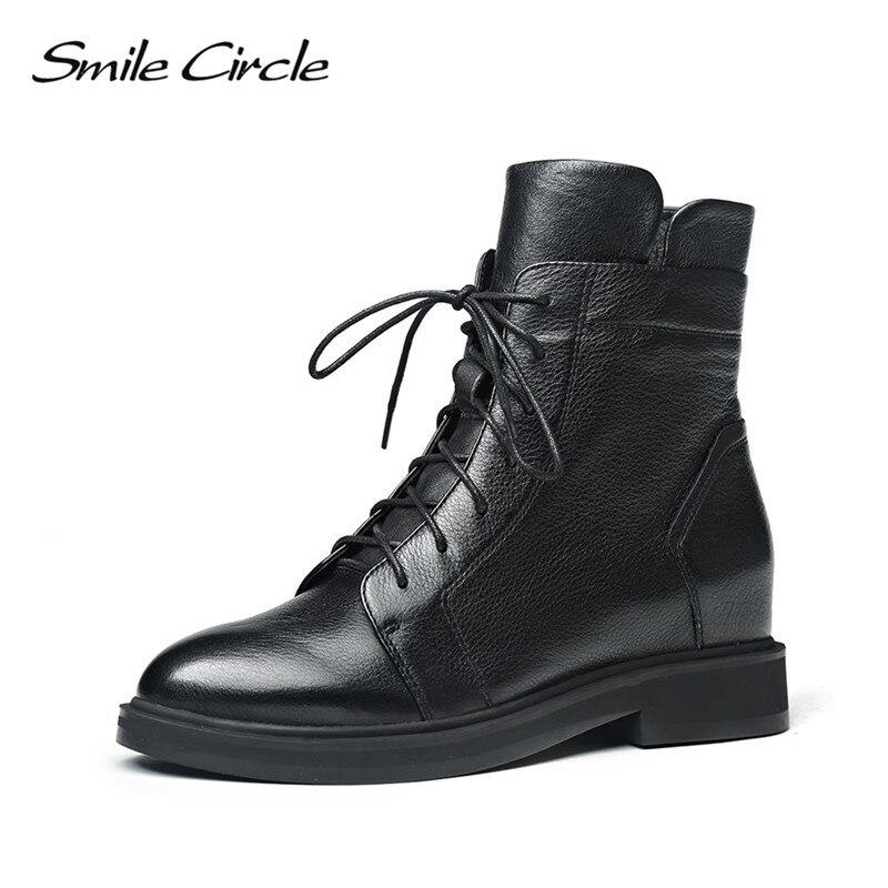 Otoño Invierno cuñas botas para mujer slip on Ankle Boots moda punta puntiaguda botas de felpa corto botas femeninas 2018-in Botas hasta el tobillo from zapatos    1