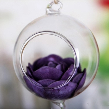 Creative Clear Ball Glass Hanging Vase Bottle Terrarium Container Planter Decor Transparent Vase Home Decor Flower Ornaments
