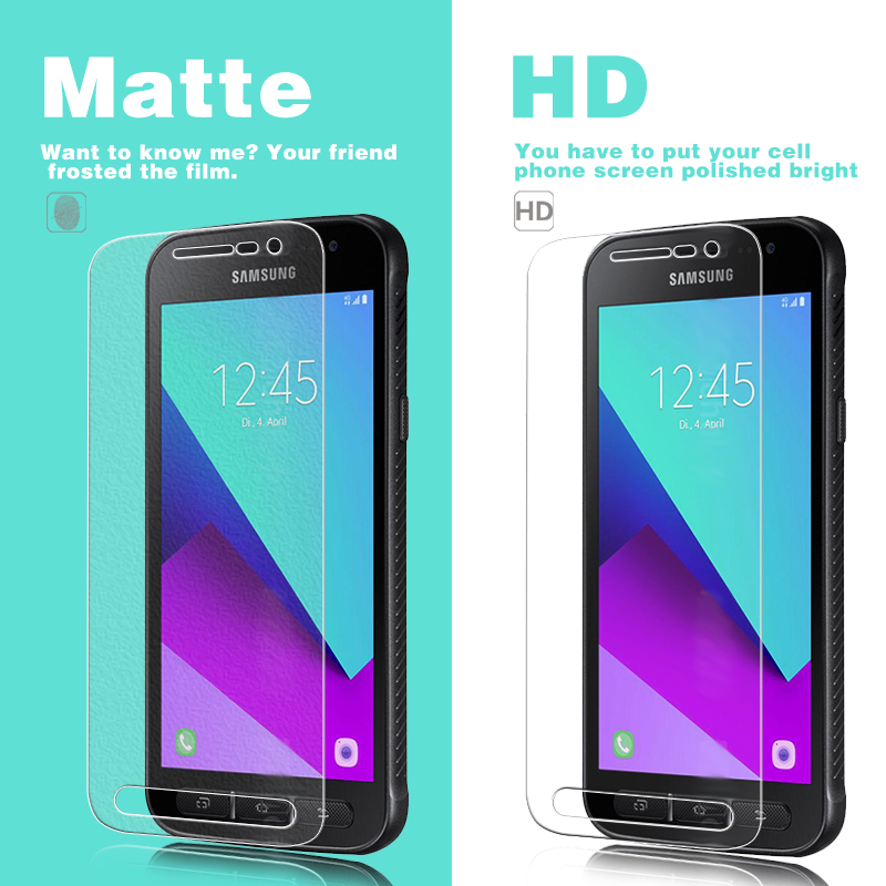 HD Clear Glossy & Matte Film For Samsung Galaxy Xcover 4 SM-G390F SM-G390W Mobile Phone Screen Protector Film + Cleaning Clothes