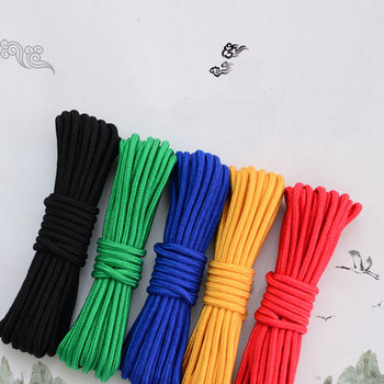 Цвет Вязание нейлоновой веревки твердых модная разноцветная Цвет Home Decor связали веревкой 8 мм 20 м