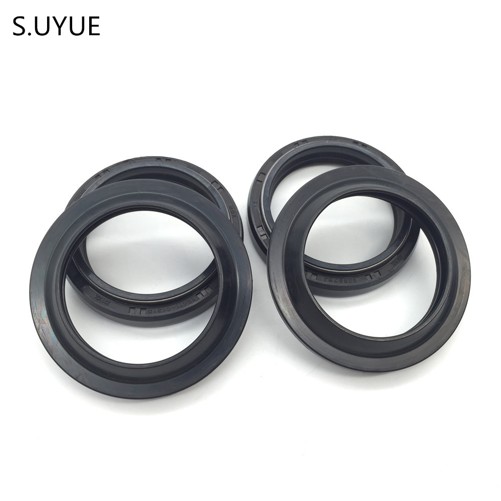 S.UYUE Motorcycle front shock absorber oil seal and dust cover 1 set Fits 00-04 YZF600R 1 set motorcycle front