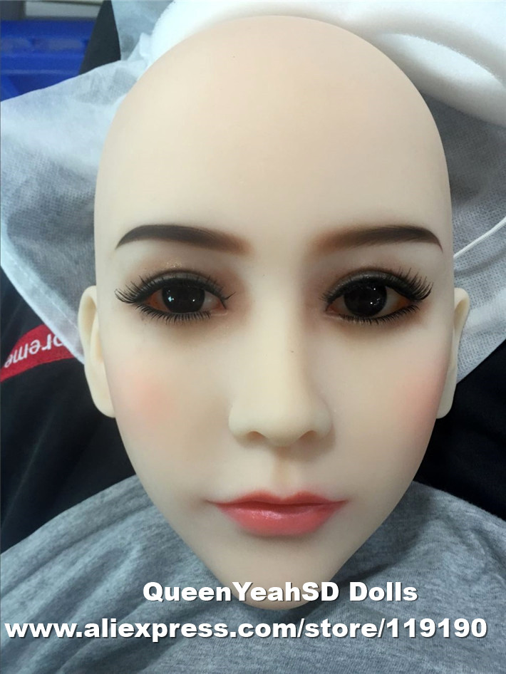 Top quality silicone adult dolls heads for love doll and TPE sex doll, japanese doll head with oral sex, sexy products top quality oral sex doll head for japanese realistic dolls realdoll heads adult sex toys