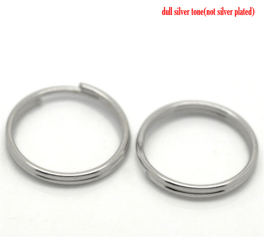 DoreenBeads 200PCs Silver Tone Split Rings Findings 16mm(5/8)Dia. (B20755), yiwu 200pcs 0603 5r1 5 1 ohm 5
