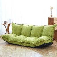 Льняная ткань обивка регулируемый пол диван кровать диван кровать для гостиной пол ленивый человек диван мебель для гостиной видео GamingSofa