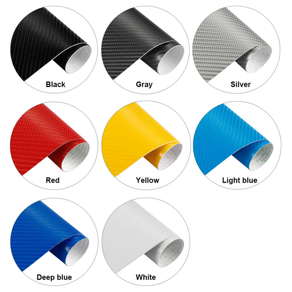 Image 5 - 200mmX1520mm Waterproof DIY Car Sticker Car Styling 4D Thicken 3M Car Carbon Fiber Vinyl Wrapping Film Car Accessories Decals-in Car Stickers from Automobiles & Motorcycles