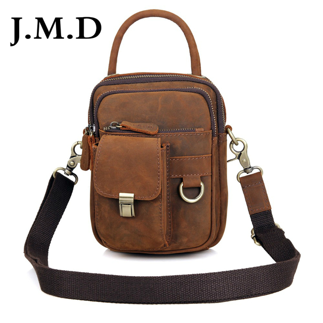 ac8d163e9394 J.M.D Vintage Real Leather Small Sling Bag For Man Purse Men s Messenger  Shoulder Bag Handbags 1003B