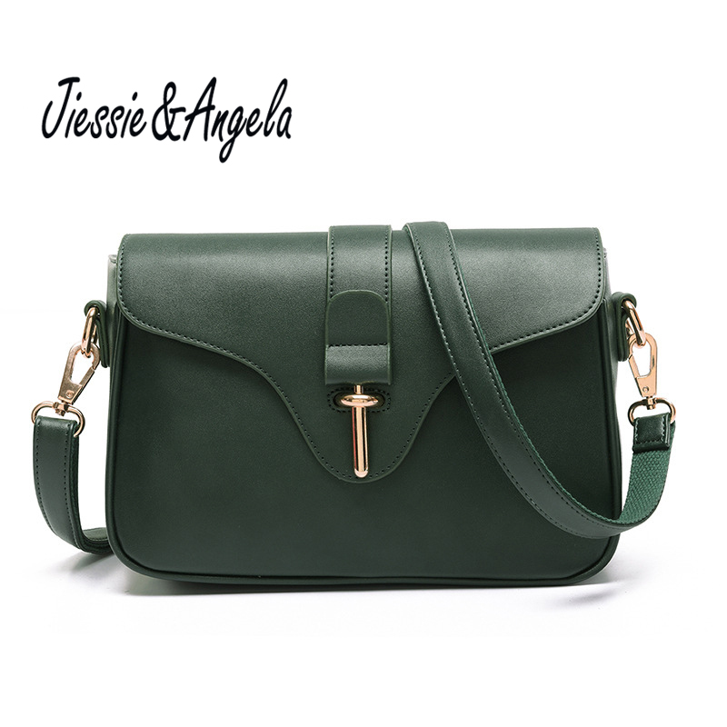 Jiessie & Angela Fashion Cross Body Bag PU Leather Handbag Women  High Quality Lady Messenger Bags Bolsos Mujer Casual Female mengzhongmeng south africa ostrich leather women handbag fashion lady business bags briefcases female cross section 5 color