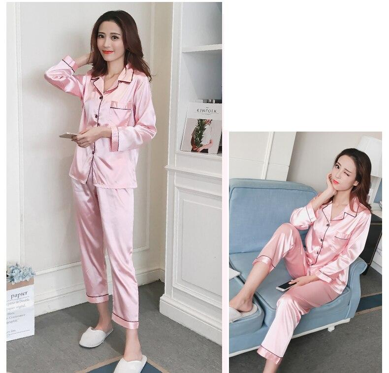 Silk Satin Pyjamas Set 8