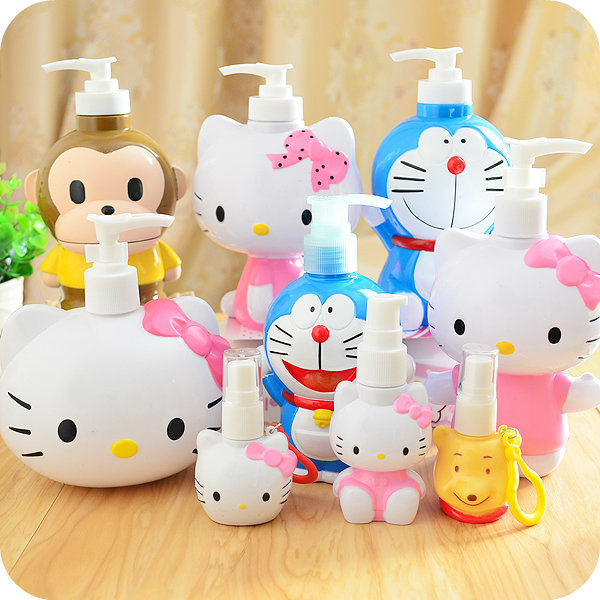1 Pcs. Kawaii Kitty Cat Fumetto di Plastica Flacone spray Vuoto Per Make Up E La