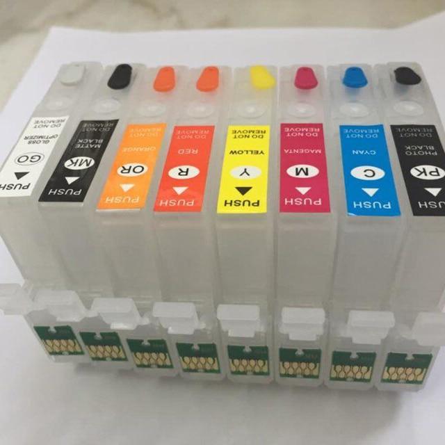 Einkshop 324 T3240 - T3249 Refillable ink Cartridge For Epson P400 Printer Surecolor P400 With Permanent Chip
