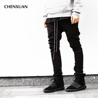 2016chinos Joggers Korean Mens European Urban Clothing Black Kanye West Justin Bieber Harem Dress Zipper Track