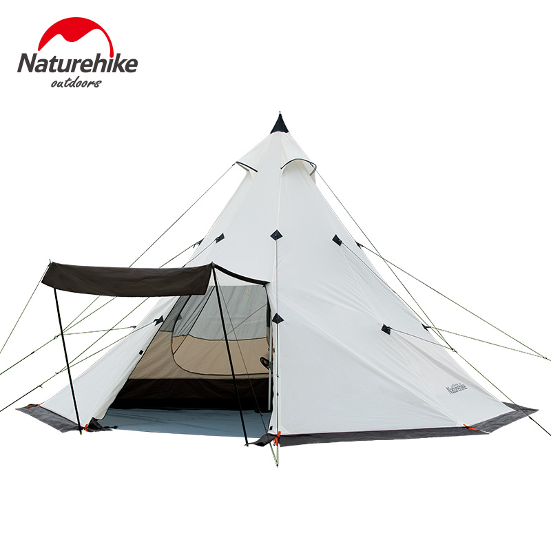 все цены на Naturehike Pyramid tent 5-8 camping tent windbreak rainstorm Park outdoor camping super large tent